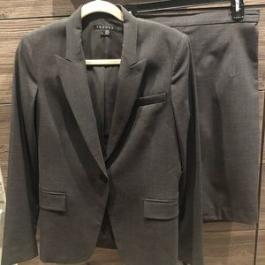 Charcoal Grey Theory Suit